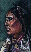 American Indian Drawings - Indian Brave by John Keaton