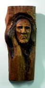 Cedar Sculptures - Indian by Charles Sims