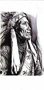 Cecill Woods Art - Indian Chief by Cecill Woods