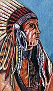 John Keaton Framed Prints - Indian Chief Framed Print by John Keaton