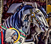 Carrousels Prints - Indian Chiefs Horse Print by Garry Gay