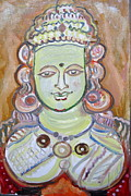 Oils Originals - Indian Deity Kamahshi Devi by Anand Swaroop Manchiraju