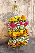 Patterned Photo Posters - Indian Flower Arrangement Poster by Inti St. Clair