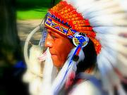 Sioux Digital Art - Indian  by Funkpix Photo Hunter