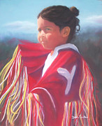Wow Pastels Posters - Indian Girl Dancing Poster by Diane Caudle