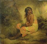 Mounted Photos - Indian Girl by George Morland