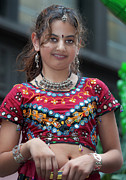 Indian Girl Photos - Indian Girl in Traditional Dress India Day parade 201 by Robert Ullmann
