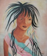 Leclair Prints - Indian Girl Print by Suzanne  Marie Leclair