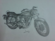Chopper Drawings - Indian Idol by Jaiteg Singh