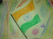 Independence Pastels - Indian Independence Freedom of Joy... by Sudheer Raju
