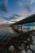 Florida Bridge Photo Posters - Indian Key Channel Poster by Dan Vidal
