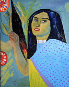 Indian Maiden Paintings - Indian Maiden by Swabby Soileau