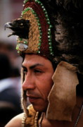 Headdresses Photos - Indian man wearing a traditional headdress by Sami Sarkis
