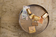 Old Objects Prints - Indian Money in a Dish Print by Inti St. Clair