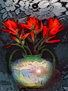 Spiritual Drawings Photos - Indian paintbrush by George  Page