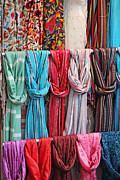 Pashmina Framed Prints - Indian Pashminas Framed Print by Mark Chapman