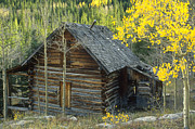 Log Cabin Prints - Indian Peaks Cabin Print by Jerry McElroy