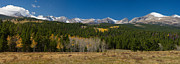 Fall Photos Prints - Indian Peaks Continental Divide Boulder County Colorado Panorama Print by James Bo Insogna
