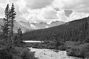 Indian Peaks Summer Day Bw Print by James BO  Insogna