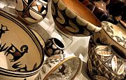 Indian Art - Indian Pots by Linda  Parker