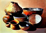 Pottery Paintings - Indian Pottery by Michael Stoyanov