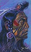 American Indian Drawings - Indian Profile by John Keaton