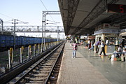 India Photos - Indian railway station by Sumit Mehndiratta