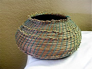 Indian Basket Sculptures - Indian Replica by Beth Lane Williams
