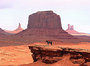 Special Moment Prints - Indian Riding in Monument Valley Print by Merton Allen