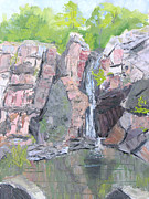 Philadelphia Painting Prints - Indian River Falls  Print by Robert P Hedden