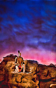 Indian Warrior Sculpture Prints - Indian Sculpture 1 Print by Wendy White