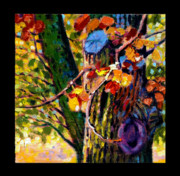 Pear Tree Painting Metal Prints - Indian Summer detail eight Metal Print by John Lautermilch