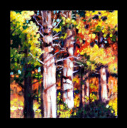 Fall Trees Posters - Indian Summer detail eleven Poster by John Lautermilch
