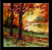 Fall Leaves Framed Prints - Indian Summer detail fourteen Framed Print by John Lautermilch