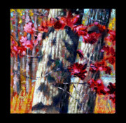 Fall Season Painting Posters - Indian Summer detail nine Poster by John Lautermilch