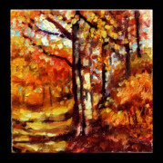 Woods Painting Originals - Indian Summer detail thirteen by John Lautermilch