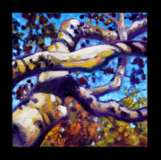 Sycamore Paintings - Indian Summer detail twelve by John Lautermilch
