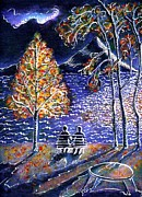 Ion Vincent Danu Metal Prints - Indian Summer in Magog Qc Metal Print by Ion vincent DAnu