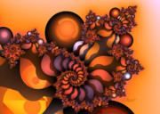 Spirals Prints - Indian Summer Print by Jutta Maria Pusl