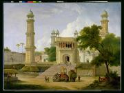 Uttar Pradesh Prints - Indian Temple Print by Thomas Daniell