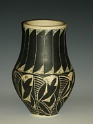 Incised Ceramics - Indian vase by Ken McCollum