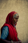 Concern Photo Prints - Indian woman Print by Inhar Mutiozabal