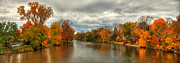 Indiana Autumn Posters - Indiana autumn landscape Poster by Richard Fairless