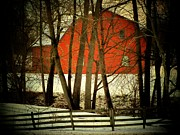 Indiana Landscape Posters - Indiana Barn and Fence Poster by Michael L Kimble