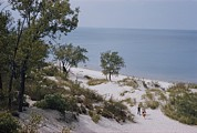 Midwestern States Framed Prints - Indiana Dunes State Park Provides Framed Print by B. Anthony Stewart