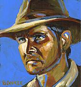 Indiana Painting Framed Prints - Indiana Jones Framed Print by Buffalo Bonker