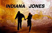 Indiana Art Framed Prints - Indiana Jones poster work A Framed Print by David Lee Thompson