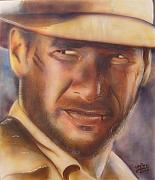 Indy Mixed Media Posters - Indiana Jones Poster by Vered Thalmeier