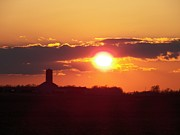 Rural Indiana Photo Prints - Indiana Sunset Print by Joyce  Kimble Smith