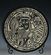 Incised Ceramics - Indianheadnickel by Ken McCollum